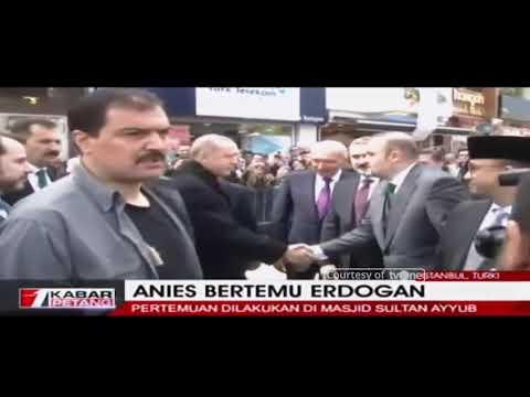 Anies Baswedan Bertemu Erdogan di Masjid Sultan Ayyub, Turki