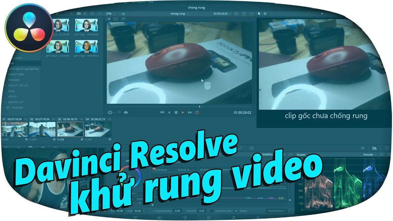 DAVINCI RESOLVE chống rung video ăn đứt PREMIERE ✅ video stabilizer