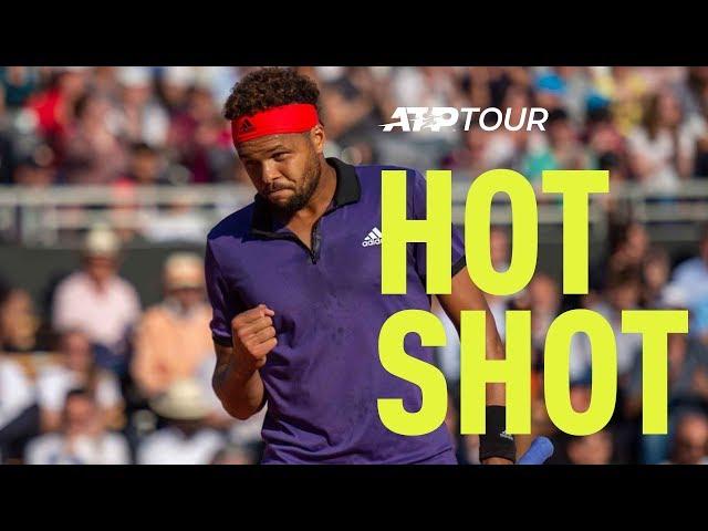 Hot Shot: Tsonga Finishes In Style   Lyon 2019