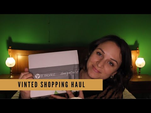ASMR #3 - VINTED shopping haul - whispering, tapping & scratching