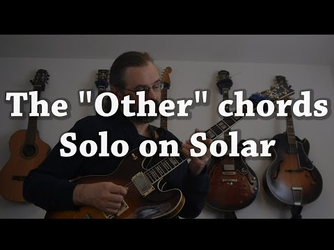 Solar -  Jazz Guitar Solo Re-Harmonized with all the weird jazz chords and scales 😀