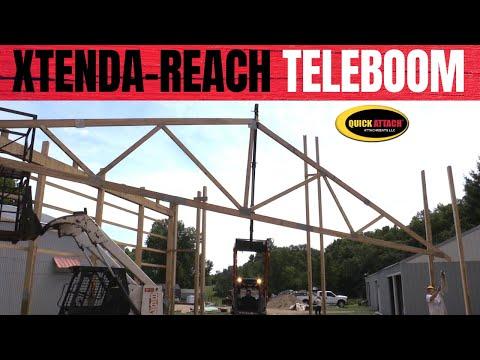 Quick Attach Teleboom Skid Steer Jib Hoist Crane Boom