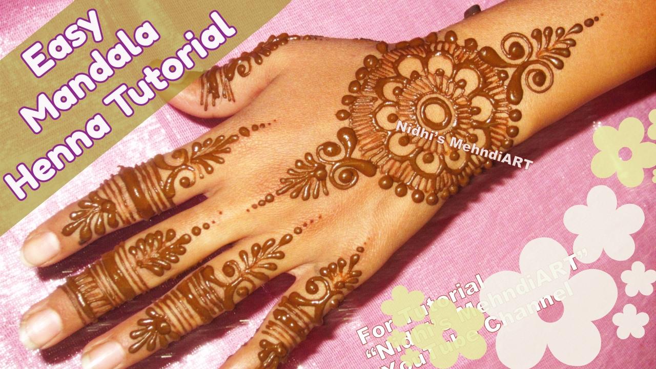 Mandala Henna Designs: Stylish Mandala Circular Arabic Henna Tattoo Art Tutorial