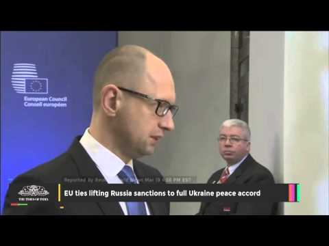 EU Ties Lifting Russia Sanctions to Full Ukraine Peace Accord