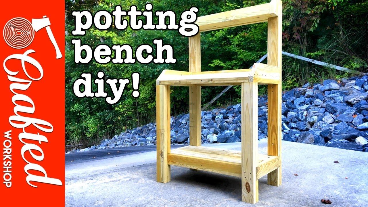Diy Garden Potting Bench How To Build Simple