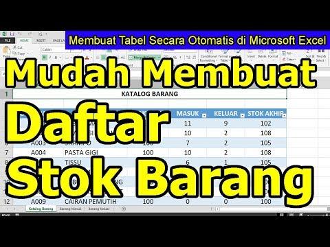 Membuat Laporan Stok Barang Di Microsoft Excel