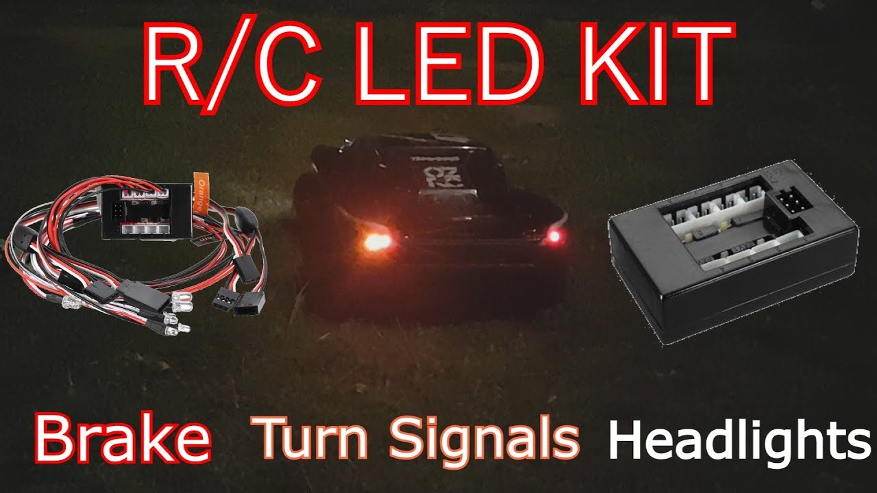 How To Install An R C Car Led Light Kit Lights Turn Rc Headlight Wiring Diagram Signals Brake Headlights