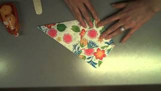 How to Make a Quick + Easy 'Diaper Fold' Card