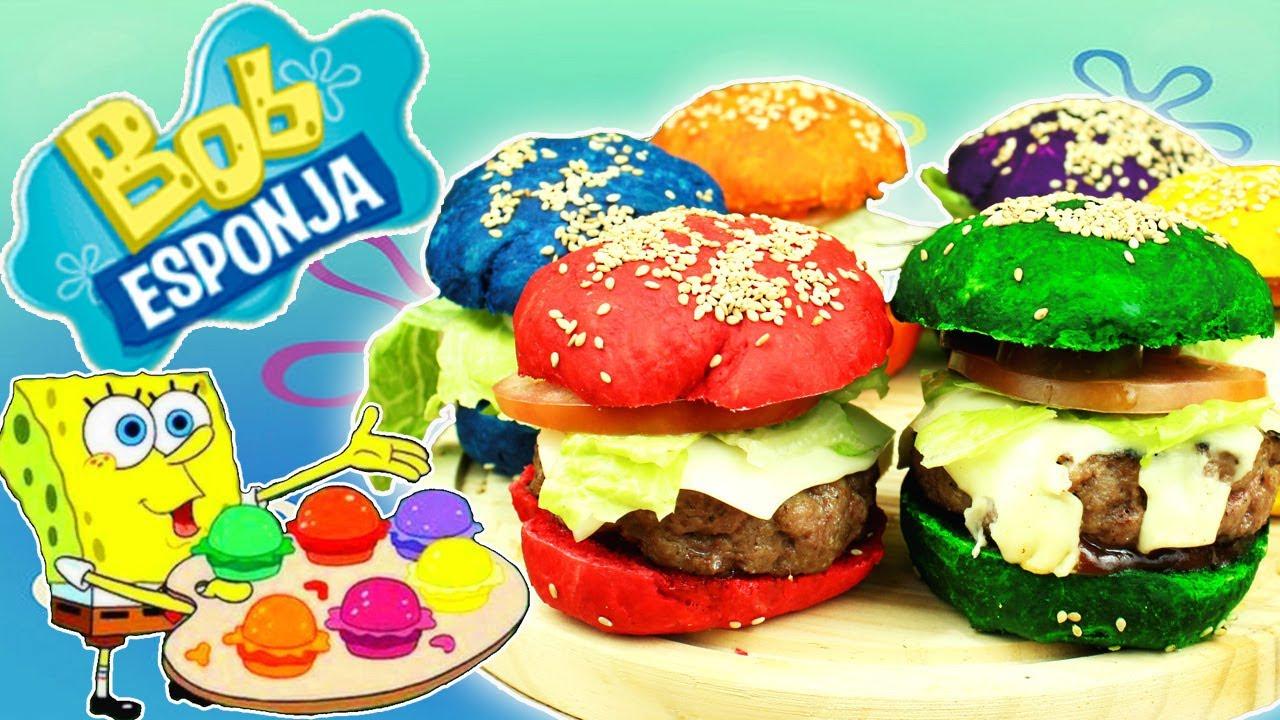 Bob Esponja Hamburguesa: Las Deliciosas Colorburguers De Bob Esponja