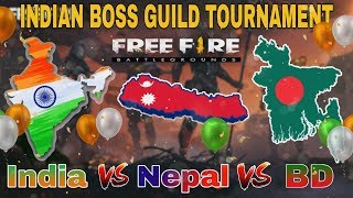 Cover images India vs nepal vs Bangladesh legend tournament free fire