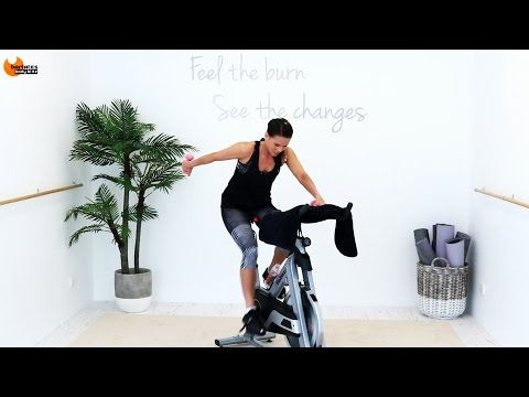 Spinning Indoor Cycling workout Cycle Barre Fusion Upper BARLATES BODY BLITZ