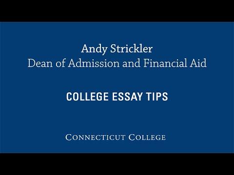 Видео Connecticut college admissions essays