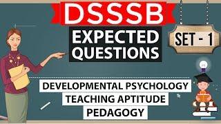 DSSSB - Expected Questions Set 1 - Child Psychology, Pedagogy, Teaching aptitude - KVS PGT TGT CTET