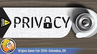 Privacy (NSFW) — game preview at Origins 2018