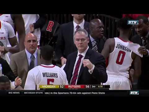 Michigan at Rutgers - Men's Basketball Highlights