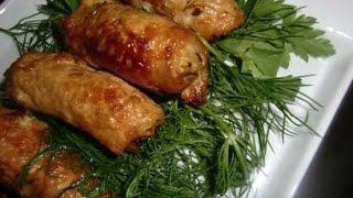 Вкусные мясные пальчики из свинины!!!###Delicious meat rolls stuffed with pork!!!