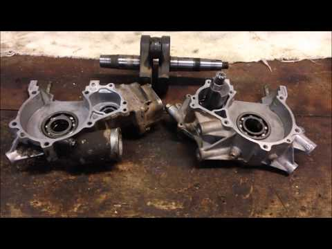 Step 4: How to Install Crankshaft Cases Case Halves Polaris 2 Stroke 300 350 400L Bottom End