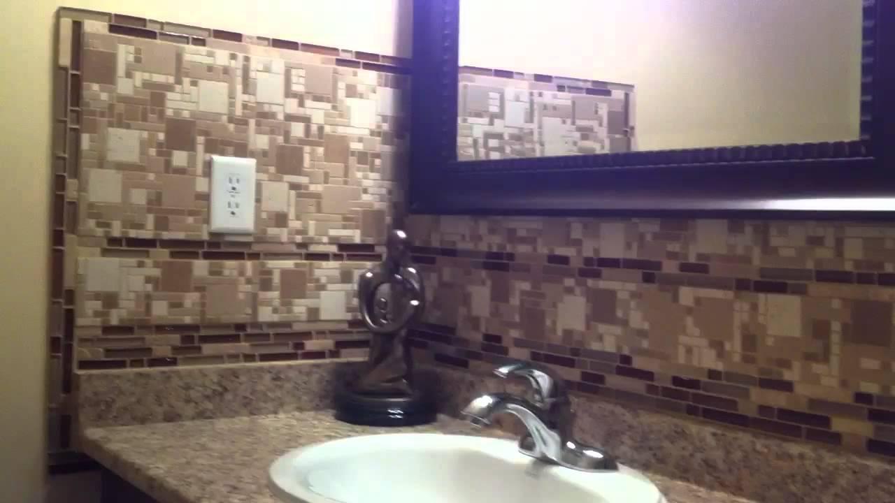 new bathroom backsplash mosaic glass stone tile mable install best diy