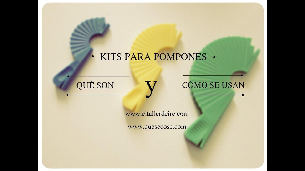 C mo usar kits para pompones youtube - Como hacer pompones ...