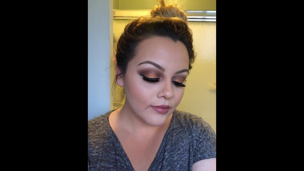 Youtube Eye Makeup Tutorial: Copper Smokey Eye Morphe 35 W Eye Shadow Palette