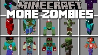 Minecraft WEIRD ZOMBIE MOD / HUNDREDS OF VICIOUS FLESH EATING ZOMBIES!! Minecraft