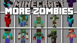 Minecraft WEIRD ZOMBIE MOD / HUNDREDS OF VICIOUS FLESH EATING ZOMBIES!! Minecraft