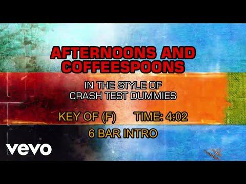 Crash Test Dummies - Afternoons And Coffeespoons (Karaoke)