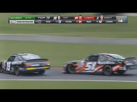 NASCAR Xfinity Series 2017. Road America. Last Laps Battle for Win