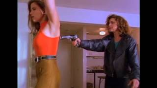Sgt. Rita Lee Lance (Mitzi Kapture) vs Jackie (Melanie Smith)