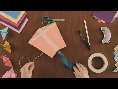 How to Make a Paper Kite : Paper Art Projects