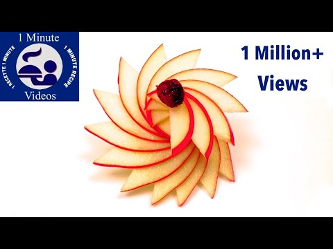 How to Make a Rosette with an Apple / Food Art, Party Idea, Cutting, Cooking Tricks