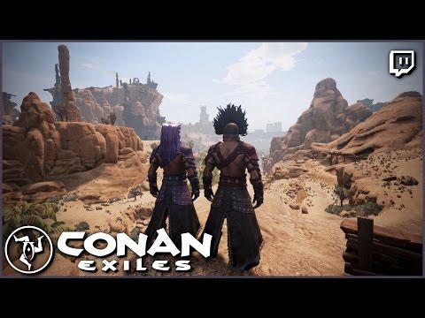 Giant Land Bridge   Conan Exiles Twitch Stream
