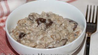 Перловка с грибами и сливками (медленоварка)