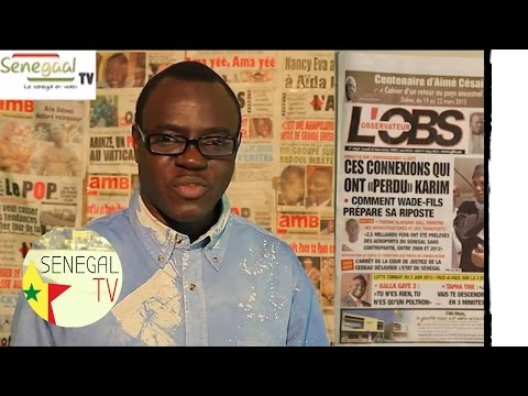 Revue de presse Senegal TV  du 18 Mars 2013