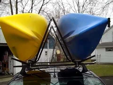 Homemade J Hook Kayak Carriers Youtube