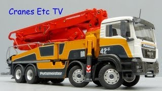 Conrad MAN TGS + Putzmeister M42-5RZ Concrete Pump by Cranes Etc TV