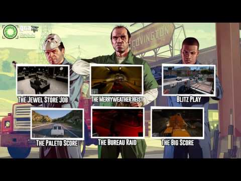 ALL Grand Theft Auto V HEISTS Missions on Redux Graphics/Single Player Collection GAMEPLAY HD