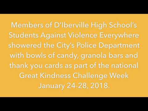 D'Iberville High students shower Police with sweet treats during 'kindness challenge' week