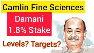 CAMLIN FINE SCIENCES STOCK ANALYSIS | DAMANI STAKE CAMLIN FINE SCIENCES SHARE TARGET | #wealthfirst