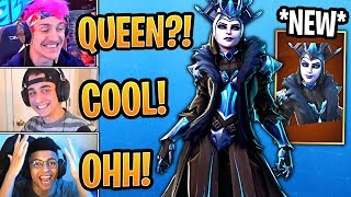 "Streamers React to the *NEW* ""The Ice Queen"" Skin! *LEGENDARY* - Fortnite Best and Funny Moments"