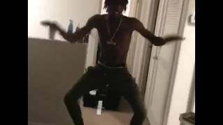 Dexter dancing like a fool