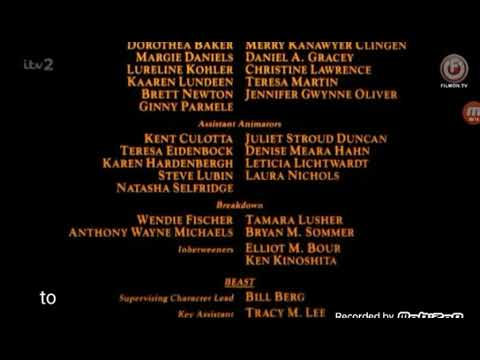 Beauty And The Beast 1991 End Credits Telefutura Tv Version Youtube