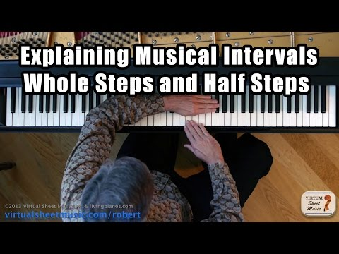 Explaining Musical Intervals - Whole Steps and Half Steps