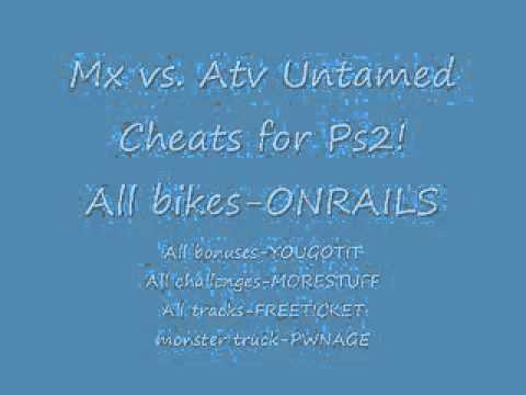 <b>Mx Vs Atv Untamed</b> Xbox 360 All <b>Cheats</b> - alexpigi