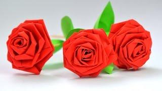 Простые РОЗЫ из бумаги / Сделай Сам СВОИМИ РУКАМИ(Розы - очень красивый и всеми любимый цветок! Своими руками их делают из разных материалов. Бумага в доме..., 2016-01-10T10:33:53.000Z)