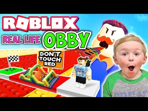 Roblox Obby in Real Life | DavidsTV