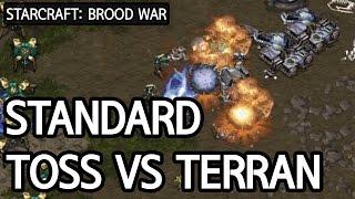 Playing stadard Protoss vs Terran l StarCraft: Brood War l Crank