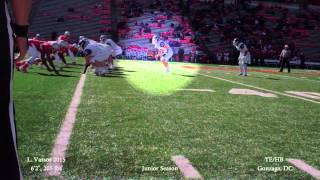 Luke Vassos, 2015 TE/HB (Gonzaga, DC) - Football Highlight