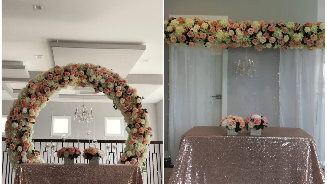Diy Floral Arch Backdrop Diy Wedding Decor Youtube