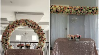 Diy- Floral Arch & backdrop DIY- wedding Decor
